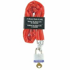 Master Lock 716D Laminated Padlock and Chain