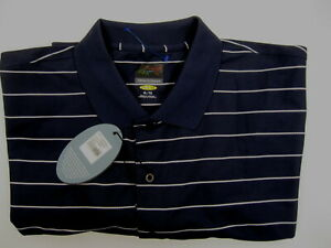 NWT-Greg-Norman-Polo-Golf-SS-Navy-Play-Dry-Shirt-Mens-XL-X-Large-Shark-Syngenta