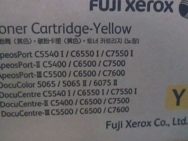 Genuine Xerox YELLOW TONER CARTRIDGE CT200571 C 5400 5540 5065 6650 6075 7500