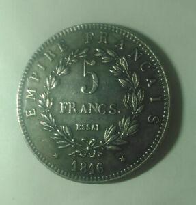 FRANCE-NAPOLEON-II-5-FRANCS-1816-PIECE-Essai-gravee-Napoleon-2-Aiglon