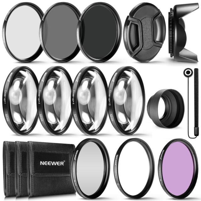 Neewer Kit Accessori & Filtri 52mm UV CPL FLD Macro (+1 +2 +4 +10) ND2 ND4 ND8¨´