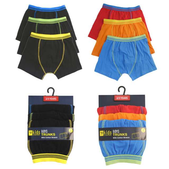 Boys 3 Pack Boxer Trunks Briefs Pants Shorts Age 2-3years