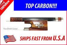 Top Carbon Fiber Violin Bow 4/4--OXHorn Fleur-de-lys