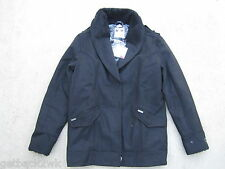 NEW* Billabong S Shawna Winter PEACOAT COAT JACKET TOP Wool Blend $100 Black