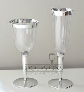 Image Is Loading Bulk Wedding Disposable Plastic Champagne Flutes Wine Cups