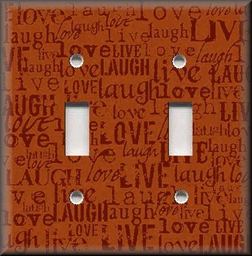 Live Laugh Love Home Decor Words Orange Decor Metal Light Switch Plate Cover