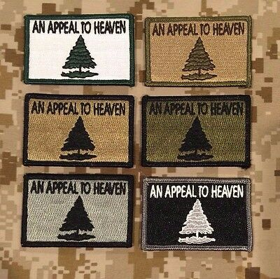 IR The Pine Tree Appeal to Heaven Flag coyote tan tactical American patch