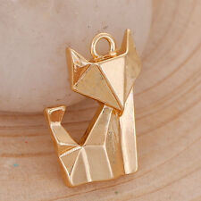 Fox Origami Long Necklace - GOLD TONE