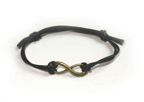 Bronze Infinity Symbol Leather Friendship Bracelet Boho Bohemian