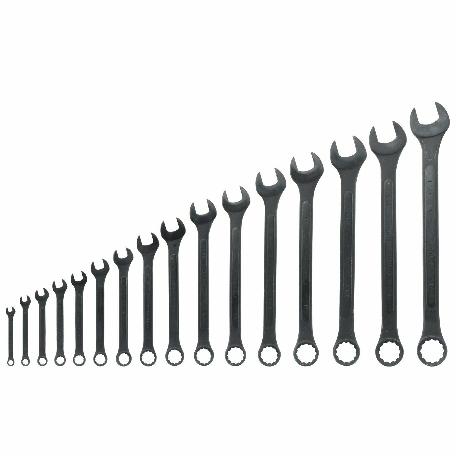 Neiko 03574A Jumbo Combination Wrench Set, 16 Piece   Raised Panel Construction