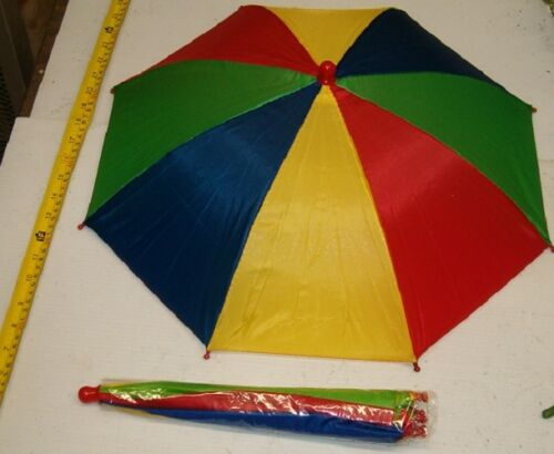 """BRAND NEW FOLD UP MULTI COLOR UMBRELLA HATS WHOLESALE,19/"""" CANOPY FREE SHIPPING"""