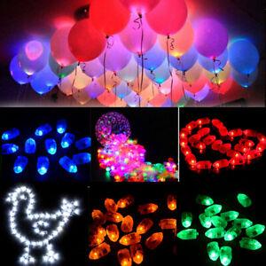 LUCI-LED-1-100Pc-Palloncini-Compleanno-Festa-Di-Natale-Palloncini-Lampada-ARREDAMENTO-COLORATO