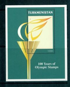 Turkmenistan-1997-Michel-Nr-Block-7-Olympic-Games-Postfrisch-MNH