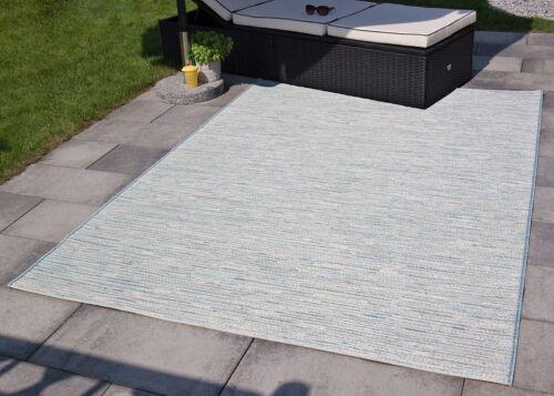 In und Outdoor Teppich Balkon Grau Türkis Gelb Rosa Mint Mandal