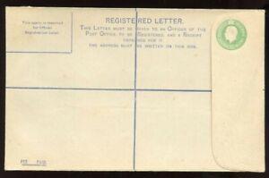 Ireland-1922-Postal-Stationery-5-Pence-Light-Green-Registered-Envelope