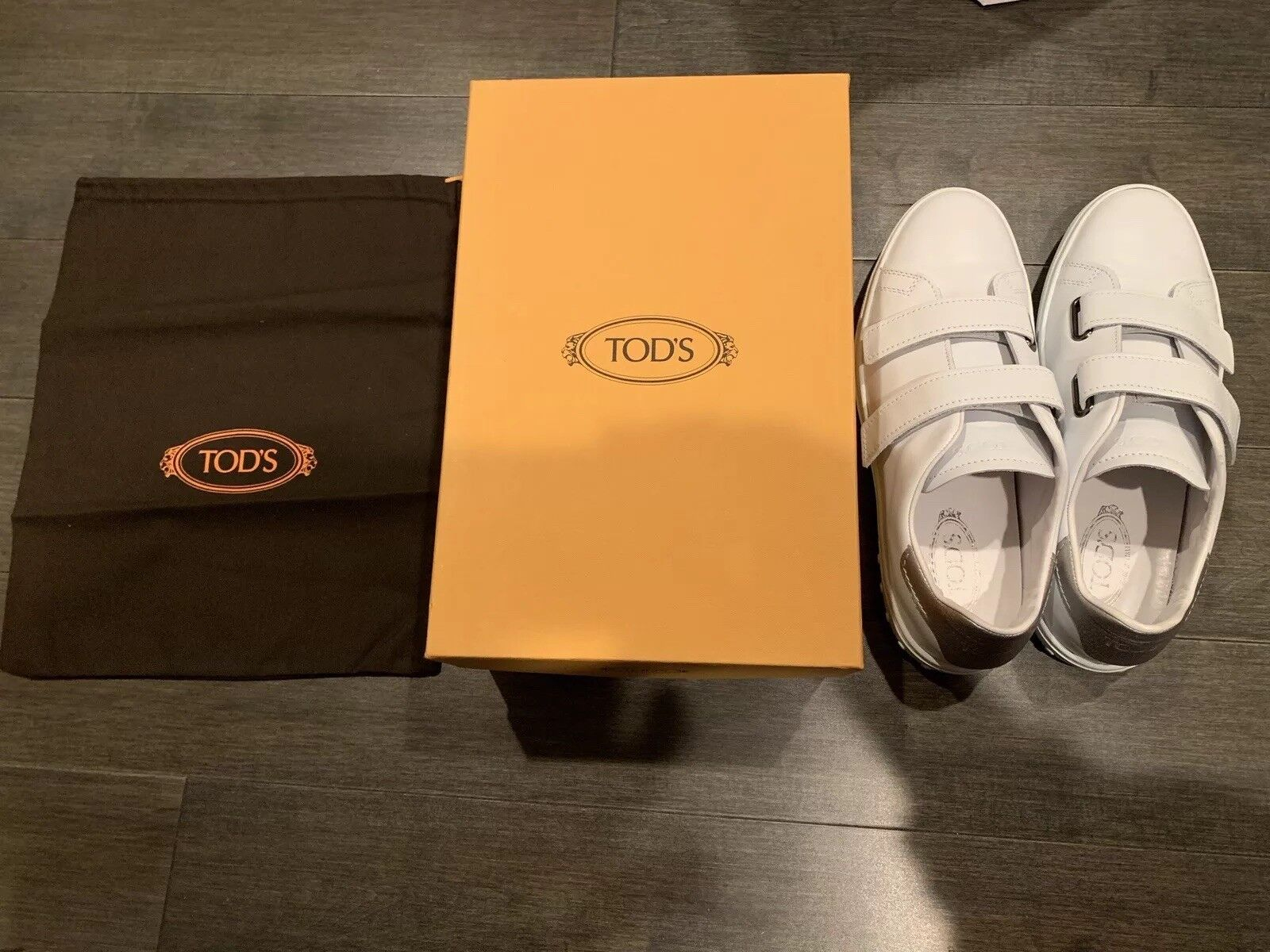 575+NEW TOD'S SPORT CASSETTA SNEAKERS Men's Size 11 White Leather Made In italy