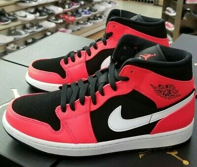 save off 26ad9 70cd0 Details about AIR JORDAN 1 MID MEN S BLACK   INFRARED 23-WHITE 554724 061