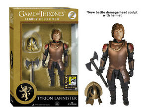 "GAME OF THRONES SDCC EXCLUSIVE TYRION LANNISTER BATTLE HELMET 4"" FIGURE LEGACY"