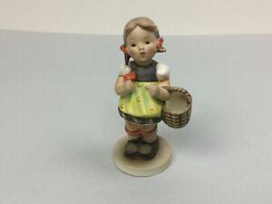 """Vintage Goebel Hummel Figurine """"SISTER"""" #98/ Girl Basket Flower"""
