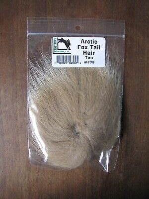 Fly Tying Hareline Arctic Fox Tail Hair White