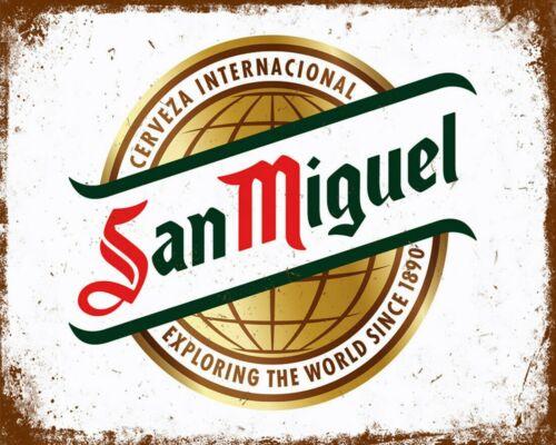 SAN MIGUEL SPANISH BEER SPAIN PUB BAR MAN CAVE GARAGE METAL PLAQUE TIN SIGN 1113