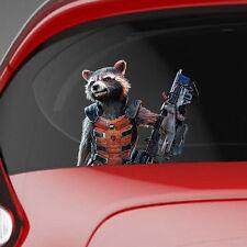 Guardians of the Galaxy Rocket Raccoon Colour Vinyl Decal Window Sticker Car
