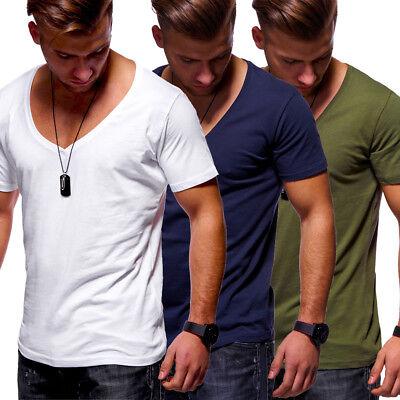 finest selection 02891 2d16f T-Shirt Herren Clubwear V-Neck Tiefer Ausschnitt Schwarz/Weiß/Grau/Navy NEU    eBay