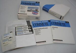 039-91-Central-Point-Commute-3-5-amp-5-25-Discs-User-039-s-Manual-amp-Box-IBM-amp-Compatibles