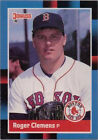 1988 Topps Coins Roger Clemens Boston Red Sox #2 Baseball Card