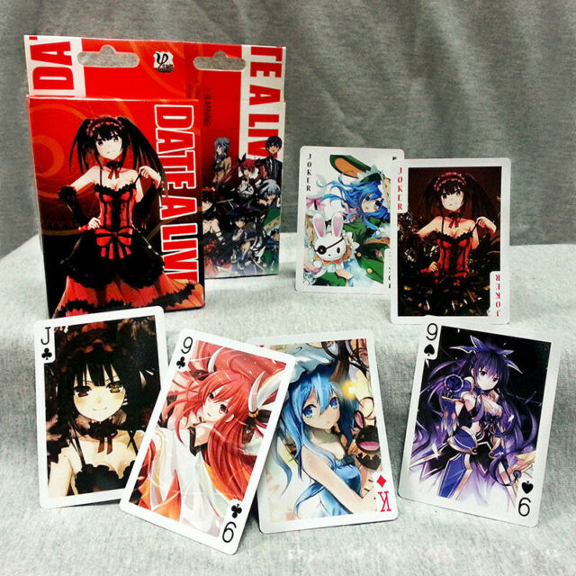 Anime Date A Live Colorful Poker Cards 54pcs Playing Cards Desk Poker With Box