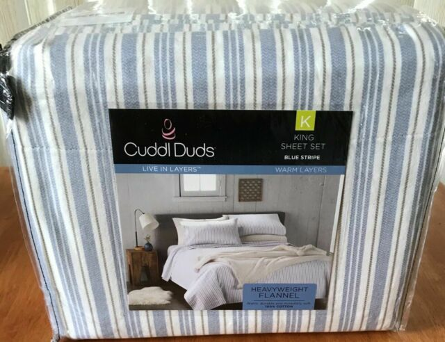 Cuddl Duds Flannel Sheet Set Queen Sports For Sale Online Ebay