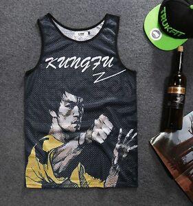 Bruce Lee Vest graffiti fresh dope kungfu unique martial artists hipster