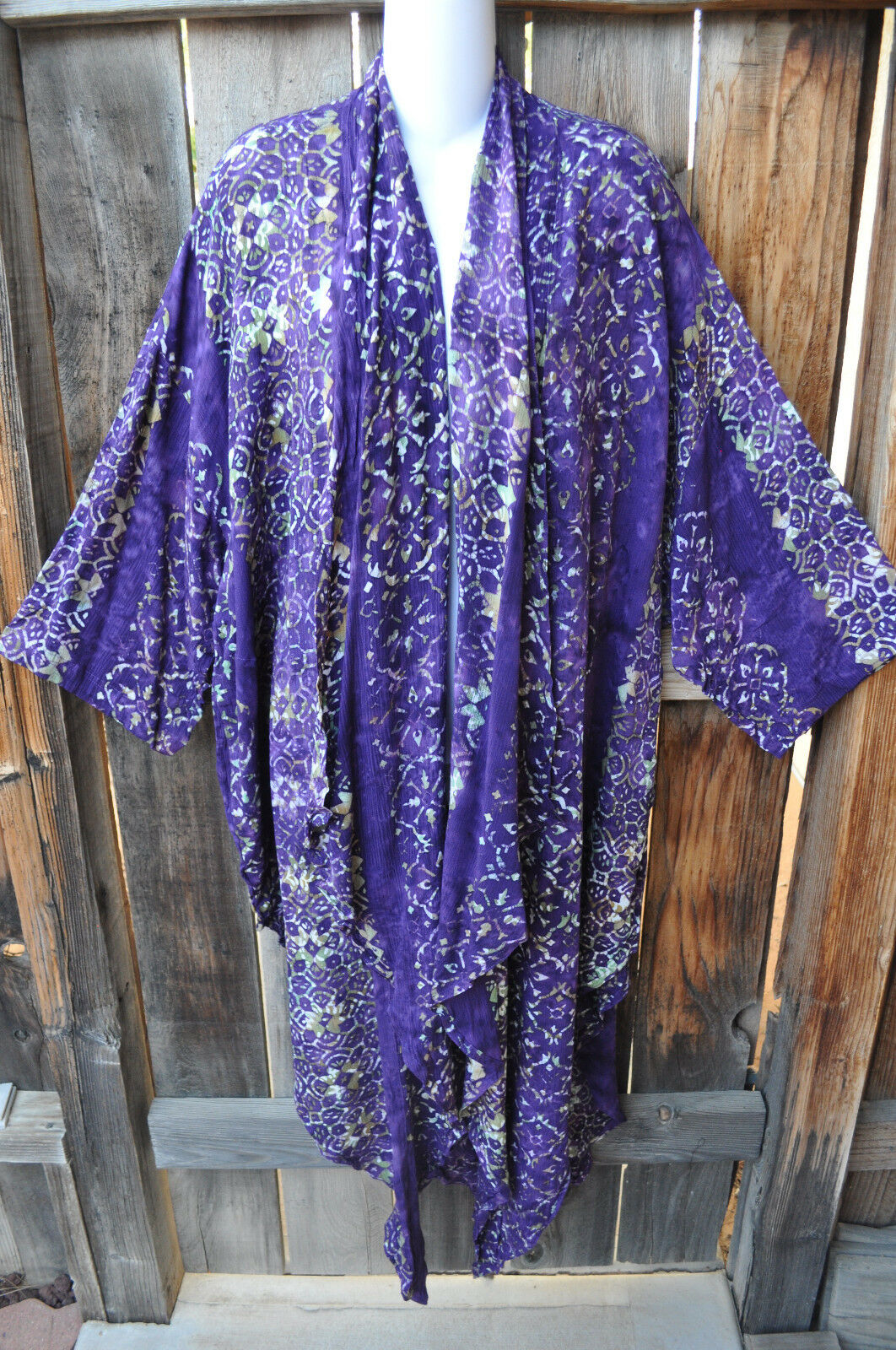 MISSION CANYON ART TO WEAR 50 LONG KIMONO DUSTER IN ALL NEW CONCORD, ONE SIZE+