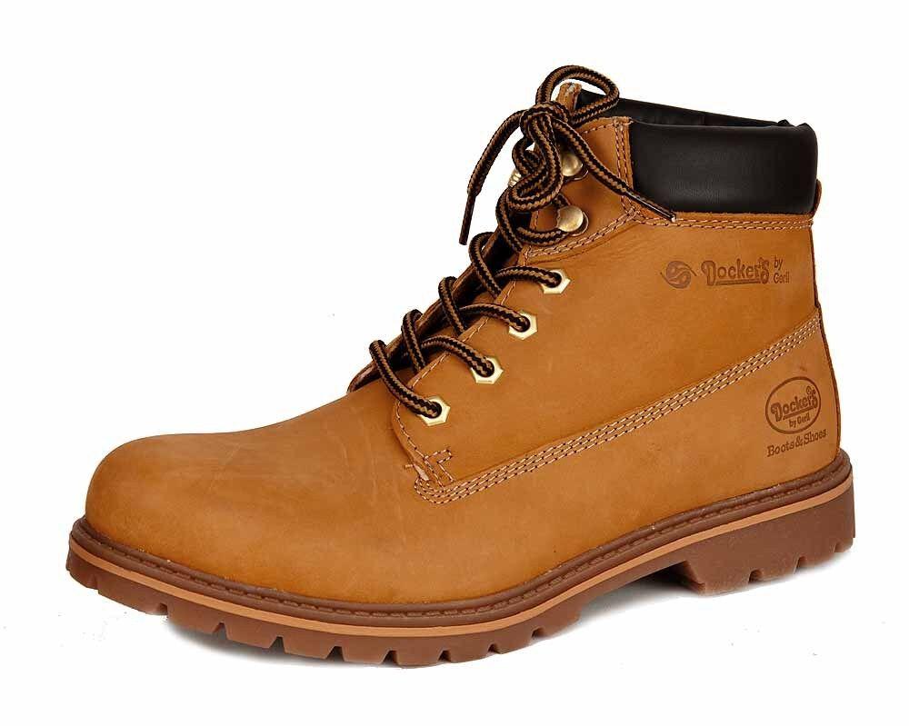 Dockers by Gerli Boots Stiefel gefüttert 23DA104-300910 golden tan Leder NEU