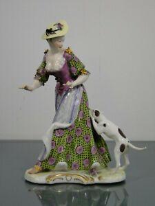 Nymphenburg-Franz-Anton-Bustelli-Dame-mit-Hund-Rokoko-um-1900-Porzellan-erotisch