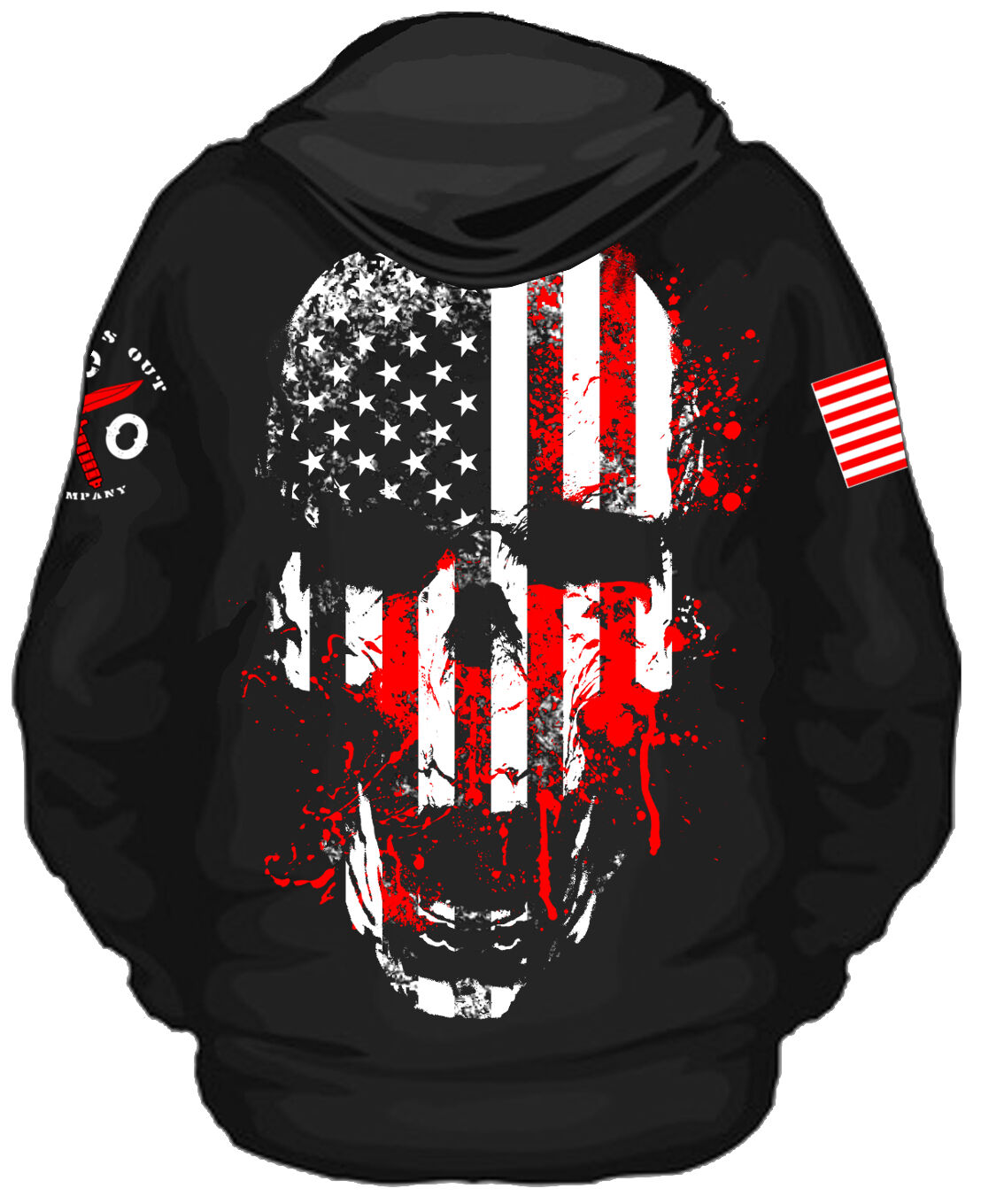 Liberty or Death Zip Up Hooded Sweatshirt I Knives Out I Veteran I Military