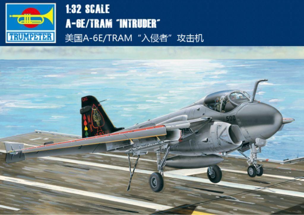 02250 Kit USA Marines A6-E TRAM 1 32 Intruder Fighter Aircraft Trumpeter Model