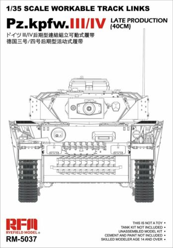 Ryefield-Model-1-35-5037-Workable-Track-For-Pz-kpfw-III-IV-Late-40cm