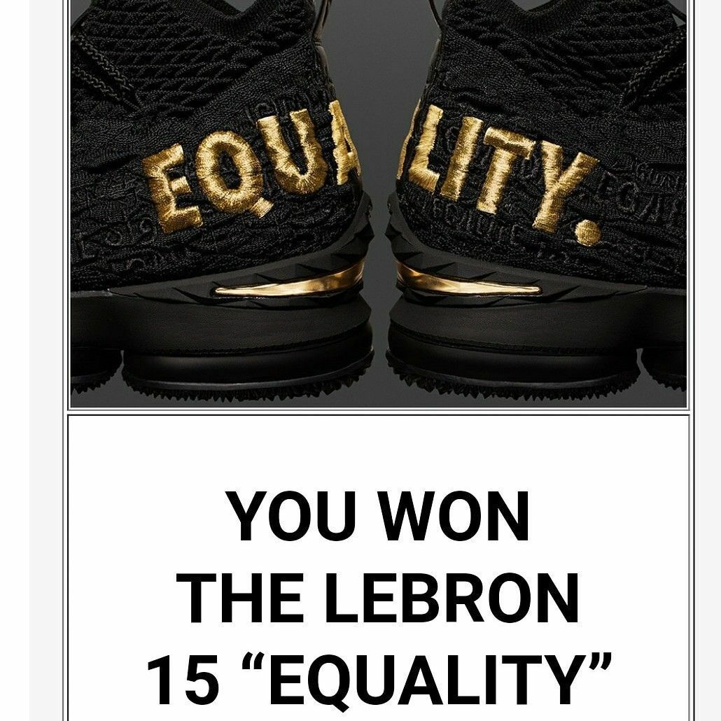 Nike Lebron 15 Equality Black Limited Edition Extremely Rare Size 10 Brand New