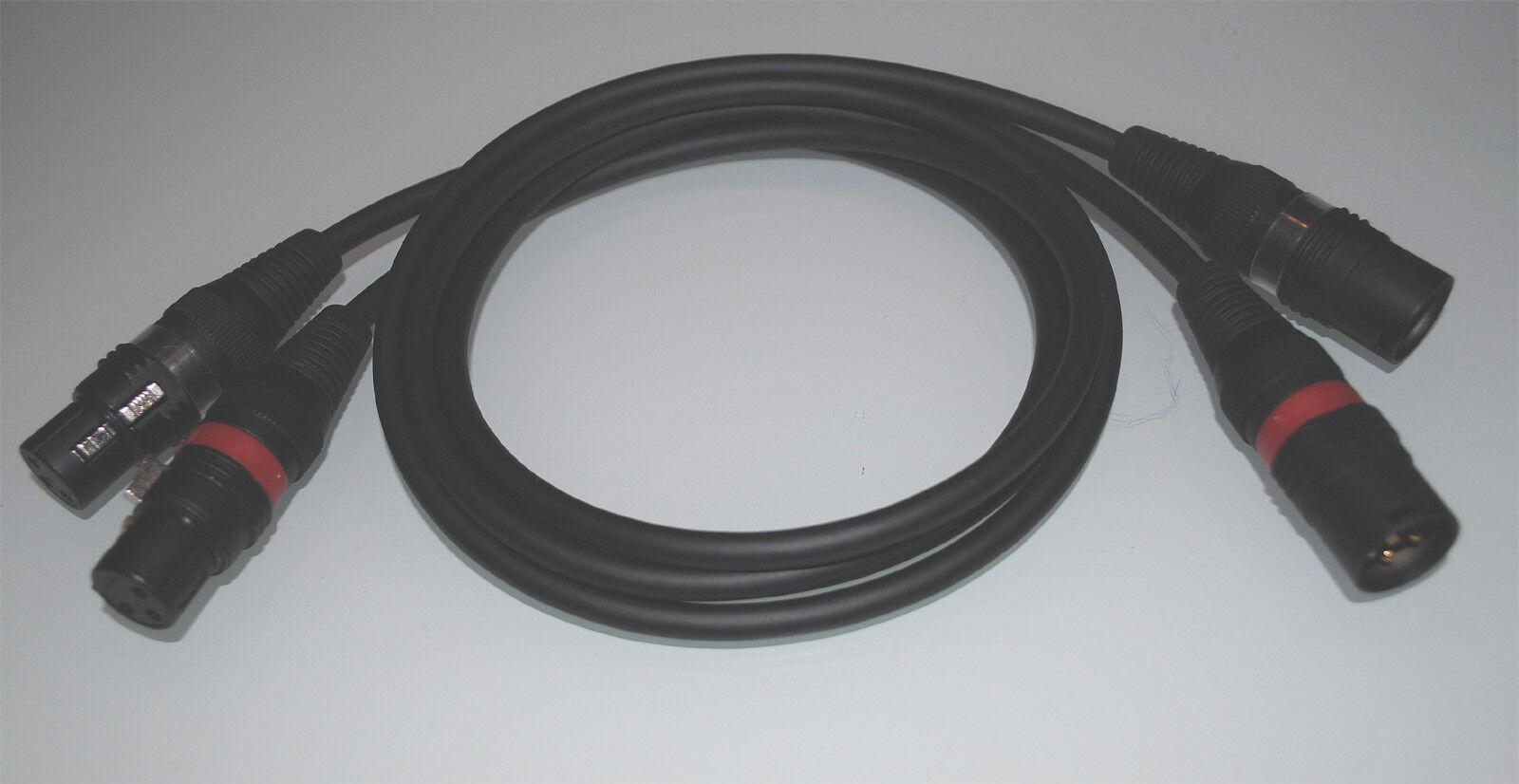 Mogami  NO COMPROMISE    symm. HighEnd XLR-Kabel   Hicon Connectors   1 Paar