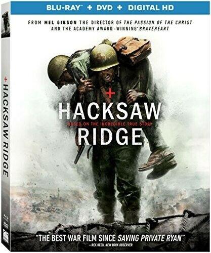 Hacksaw Ridge (2 Disc, Blu-ray + DVD) BLU-RAY NEW