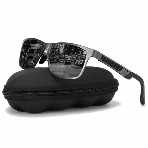Mens HD Polarized Sunglasses Al-Mg Metal Frame Fashion Aviator Driving UV400 UK