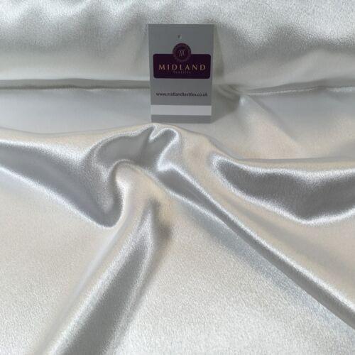 "Dress Wedding Prom Bridal 45/""  M686 Mtex Luxury Silky Crepe Back Satin"