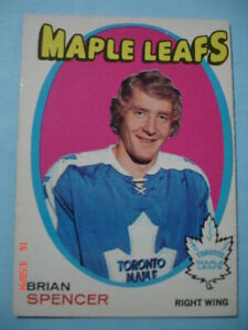 Authentic-1971-72-O-Pee-Chee-198-Brian-Spencer-034-Vintage-034-Rookie-Card-N-MT