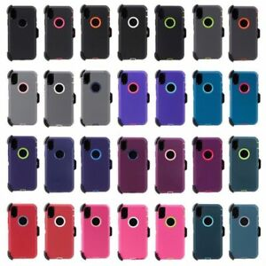 For-iPhone-X-XS-Rugged-Case-Cover-with-Belt-Clip-Fits-Defender-Series