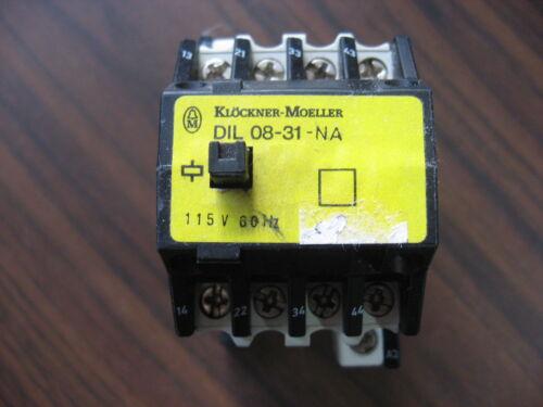 Klockner Moeller DIL 08-31-NA Contactor With 115 Volt Coil