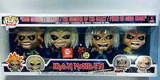 Funko POP Eddie 4-Pack Glow in The Dark Box Set Rocks: Iron Maiden Alliance Entertainment Exclusive
