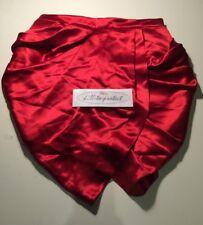 a74dcbfee BALMAIN x H&M SILK DRAPED MINI SKIRT RED Size 14 US10 EU40 Rare F/W