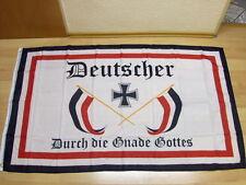 Fahnen Flagge Deutscher durch die Gnade Gottes 90 x 150 cm