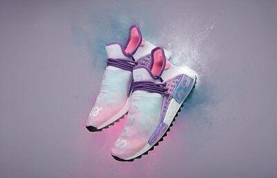 Adidas X Pharrell Nmd Size 9 Holi Festival Pink Glow Ac7362
